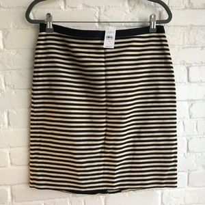 New w/ tags Loft Stripe Navy Pencil Skirt Large 10